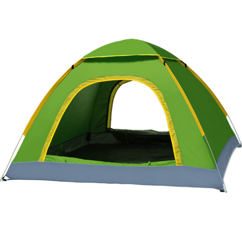 Backpacking Camping Tent, Lightweight 3-4 Persons Tent Waterproof Sun-proof Portable Aluminum Poles Travel Tents[green Color]