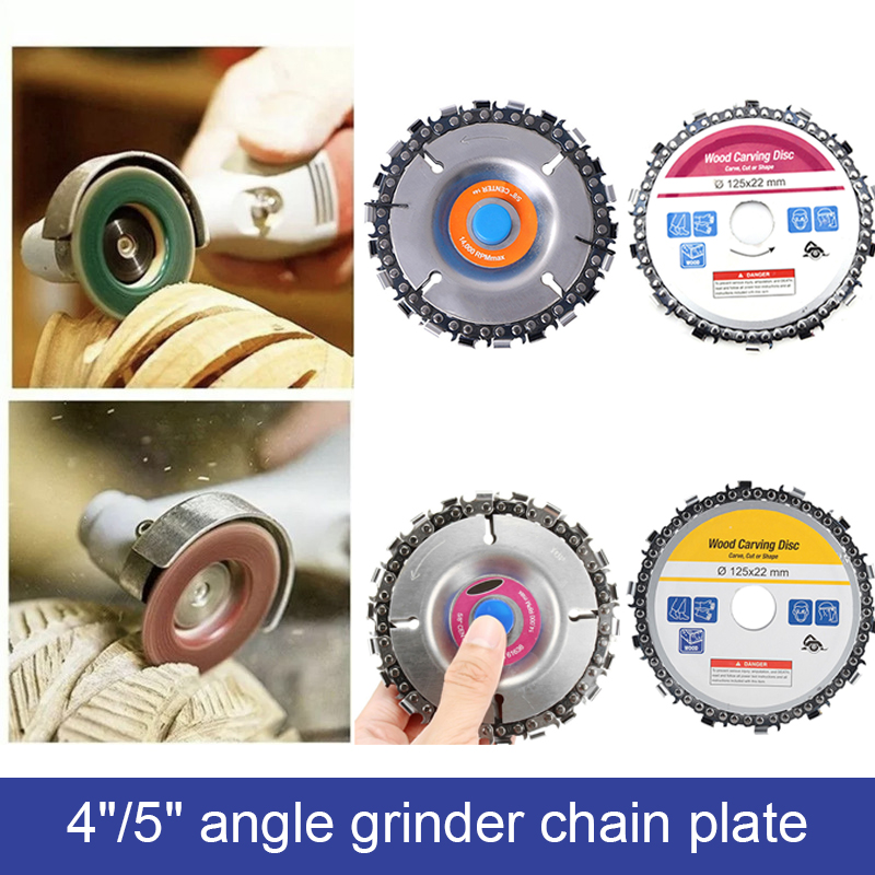 1PC Wood Carving Disc Grinder Disc Chain Wood Carving Disc For Use With 4