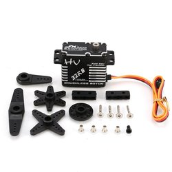 JX BLS-HV7132MG 32KG Metal Steering Digital Gear HV Brushless Servo with High Voltage for RC Car Robot Airplane Drone