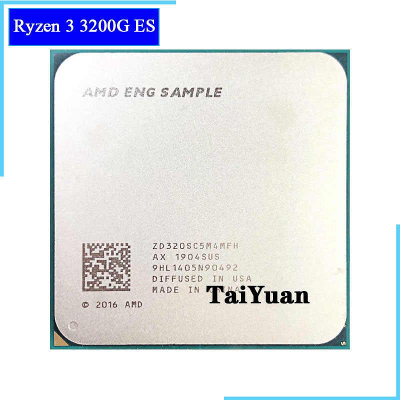 AMD Ryzen 3 3200G ES R3 3200G es 3.5 GHz czterordzeniowy czterordzeniowy procesor 65W procesor cpu L3 = 4M ZD320SC5M6MFH gniazdo AM4