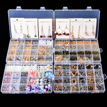 Jewelry Findings Tool Set,jewelry Making Tools Material Beads Earring Hook Pin Box Sets for Supplies Lobster Clasp Accessories