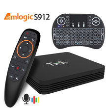 Android TX9s Amlogic S912 4K IPTV Voice Assistant Media Player TV Box 2GB 8GB set top TV Box(China)