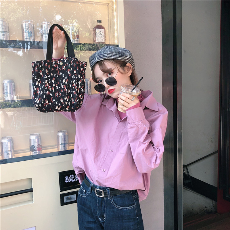 Hylhexyr Canvas Mini Bag Women Handbag Reusable Tote Bags