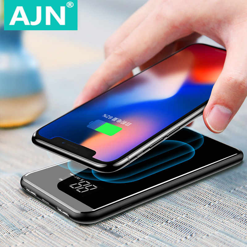 Qi  Wireless 30000mah Power Bank Wireless Charger For iPhone Samsung  External Battery Bank Built-in Charger Powerbank Portable