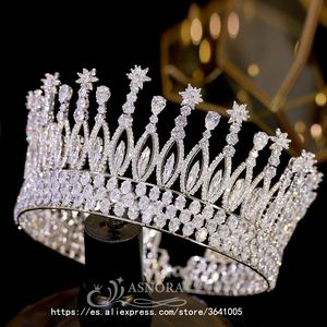 Image 2 - Fashion Tiara Princess Tiara Headdress Wedding Hair Accessories Big Crown Princess Bride Hair Accessories Bride  A00658