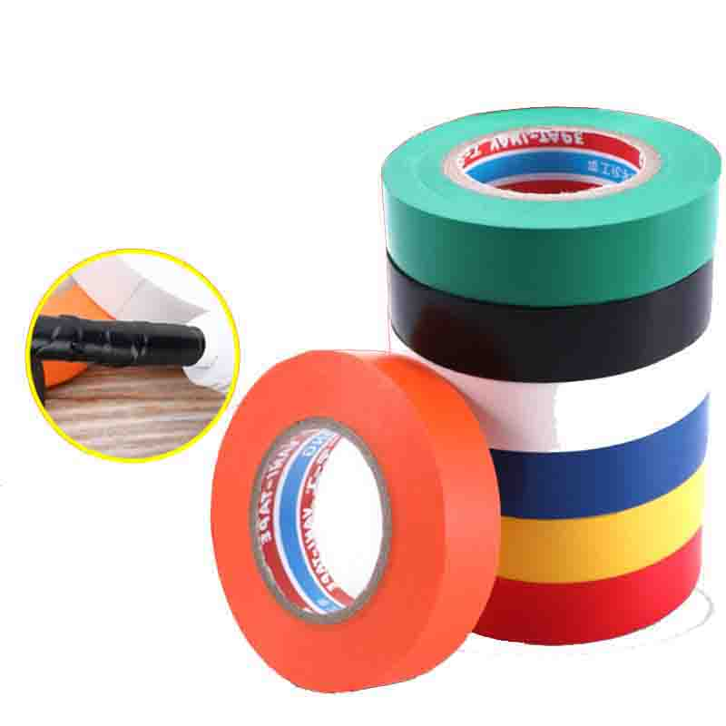 PVC Waterproof Self- Adhesive Electric Tape Electrician Wire Insulation Flame Retardant Plastic Tape Electrical High Voltage