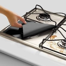 Gas Hob Oil Protector Liner Non-Stick Sheet Reusable Stove Clean Mat Pad Furnace Surface Protection Pads Kitchen Tools 8 pcs reusable gas stove burner cover protector liner clean mat pad file injuries protection 2