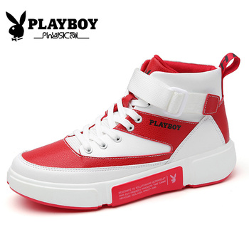 PLAYBOY New Men Boots Leather Outdoor Ankle Boots Male Lace Up Anti-slip Mens Boots British Sneakers Zapatos De Hombre PZ2950003