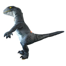 Halloween Velociraptor Inflatable Costume Tyrannosaurus Dinosaur Cosplay Cartoon Funny Doll Inflatable Costume pikaalafan giant inflatable toys halloween easter funny doll inflatable props terror ghost hug people inflatable clothes cosplay