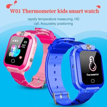 Boby Temperature Monitor Kids Smart Watch for Children SOS Antil-lost Waterproof Smartwatch Clock Lo