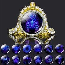 Ожерелье макси с кристаллами 12 созвездий зодиака женское Подарочное