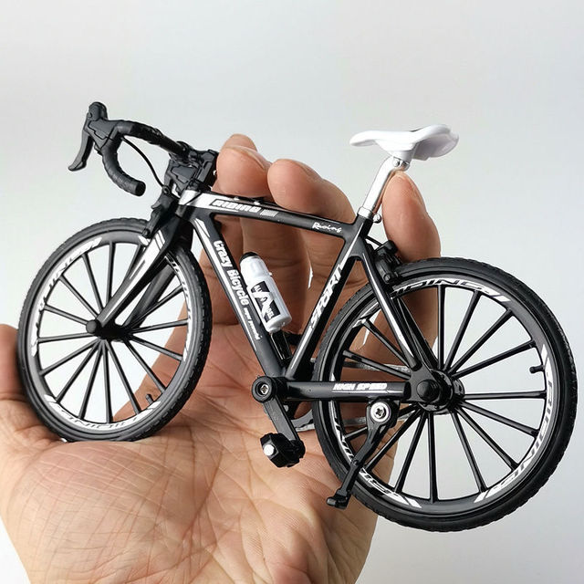1:10 Alloy Bicycle Model Diecast Metal Finger Mountain bike Racing Toy Bend Road Simulation Collection Toys for children 2