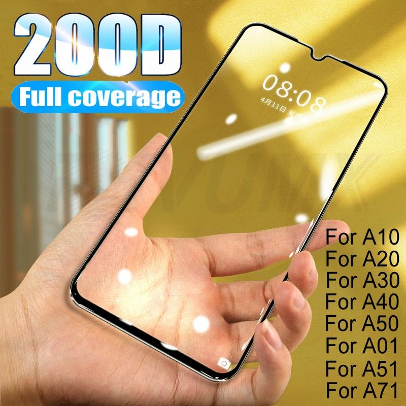 200D Full Cover Glass For Samsung Galaxy A01 A51 A71 A10 A20 A30 A40 A50 Screen Protector A60 A70 A80 A90 Tempered Glass Film