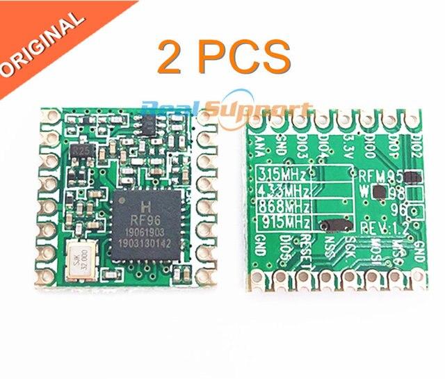 Frete grátis 2PCS RFM95 RFM95W 868 915 RFM95 868MHz RFM95 915MHz SX1276 LORA transceptor sem fio módulo ORIGINAL