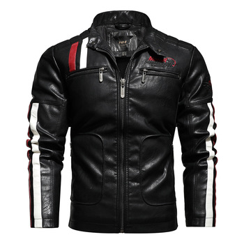 New Men's Leather Jackets Autumn Casual Motorcycle Jacket Fashion Stand Collar  High Quality PU Jacket Biker Leather Coats mens leather jackets 2020 autumn winter new casual motorcycle pu faux leather jacket male biker leather coats windbreaker jacket