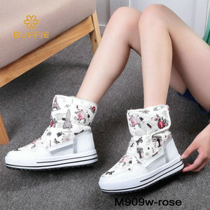 Image 3 - 부츠 여성 신발 겨울 여성 따뜻한 모피 방수 어퍼 플러스 크기 패션 비 슬립 단독 무료 배송 새로운 스타일 스노우 부팅