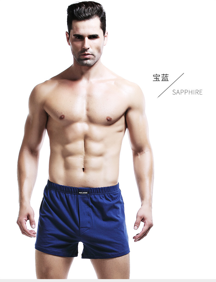 2pcs Lot Men's Soft Stretch Knit Boxer Comfortable Breathable Cotton Shorts Mens Underwear Boxers Men Long Panties Plus Size