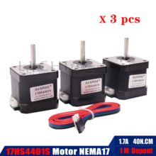 3 adet Nema17 step Motor 40mm 42 motor Nema 17 motor 42BYGH 1.7A 17HS4401S motor 4 kurşun için 3D yazıcı CNC XYZ