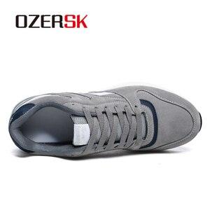 Image 2 - Кроссовки OZERSK Мужские дышащие, повседневная обувь на плоской подошве, Классические брендовые, размеры 36 45, осень 2021