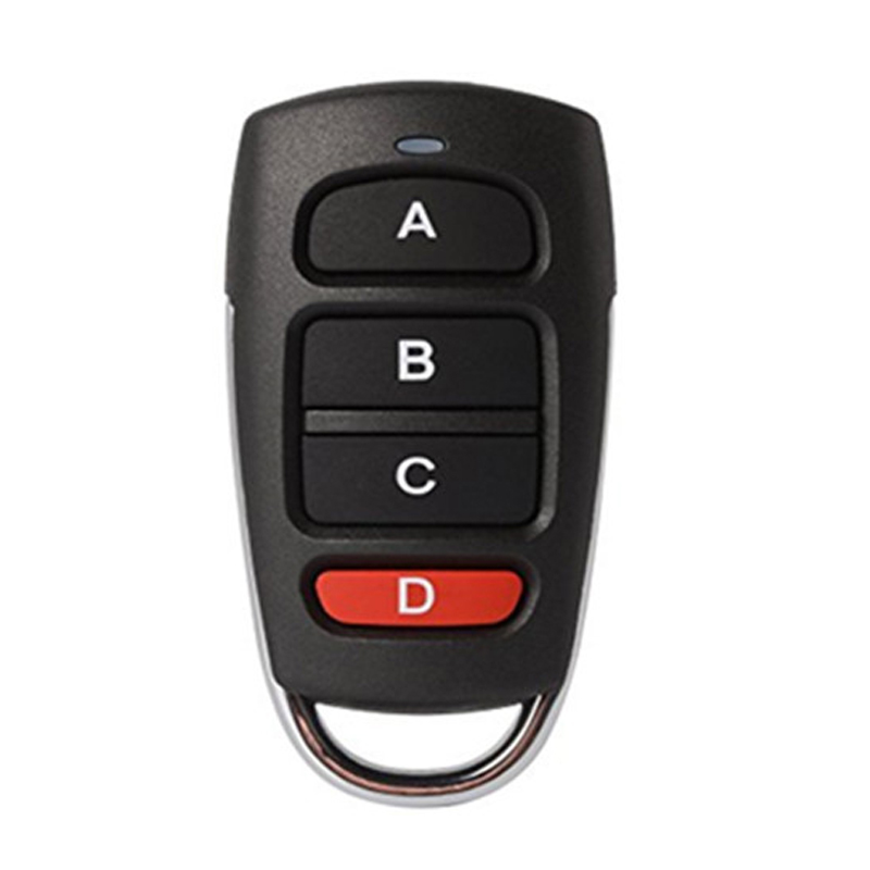 433Mhz Remote Control Copy Code Remote 4 Channel Electric Cloning Gate Garage Door Auto For 433.92 Fixed Code 1527 Learning Code