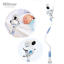 Wielofunkcyjny uniwersalny stojak na telefon łóżko leniwy kołyska długie ramię regulowany 75cm 95CM niania elektroniczna baby monitor uchwyt ścienny