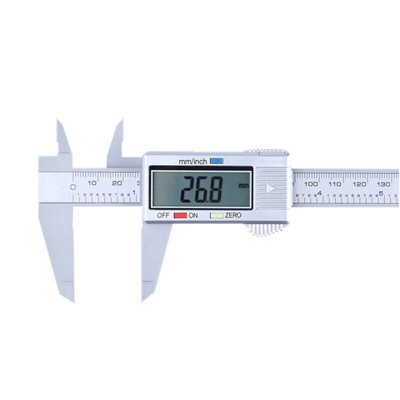 Urijk 0-150 мм измерительный инструмент штангенциркуль 6 дюймов ЖК-дисплей цифровой штангенциркуль измерительный инструмент Пластиковый штанг...