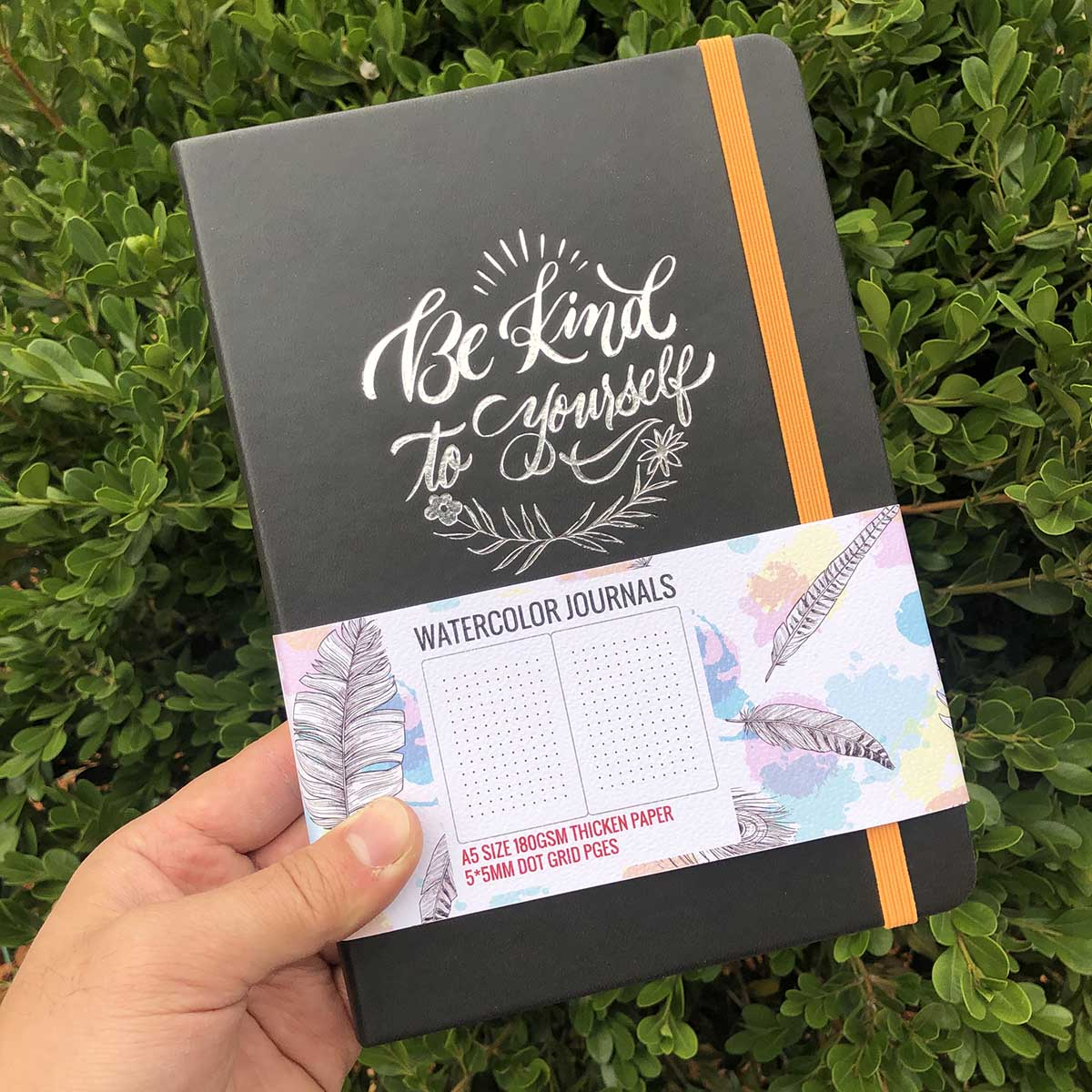 BUKE Dot Grid Notebook Dotted Watercolor Journal Sketchbook Thicken Paper 180GSM 160GSM Dotted160 Pages 5X5mm 3