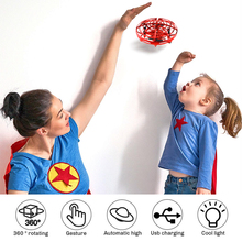 Mini Drone UFO Helicopter Hand Operated Induction Aircraft Flying Ball Toys For
