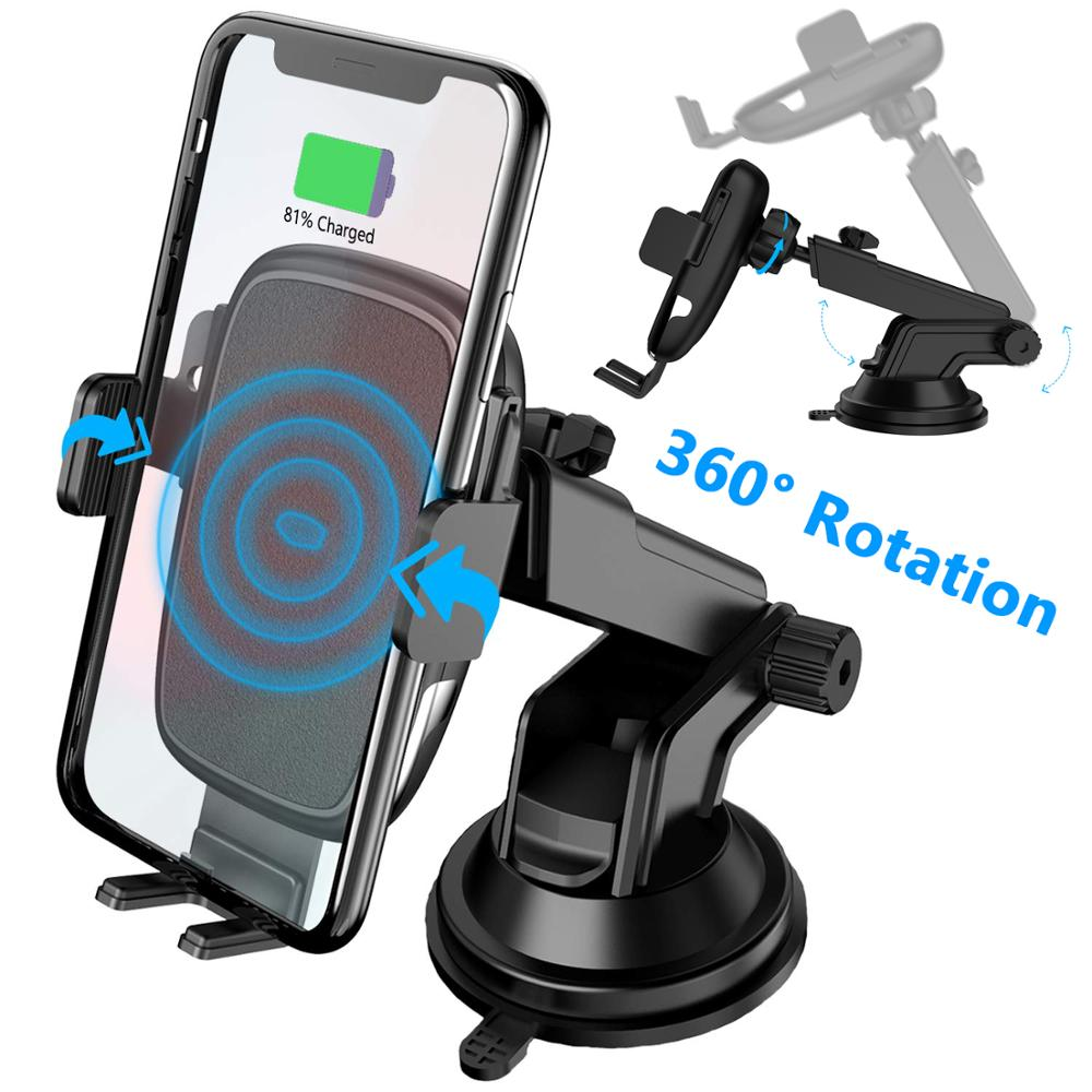 Car Phone Mount With Dashboard+Air Vent Cell Phone Holder 2 In 1, Long Arm Strong Suction Car Phone Holder,Compatible All Phones