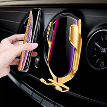 Wireless car phone Charger Car holder Mount Automatic Clamping Fast Charging Cell Phone Holder for smart
