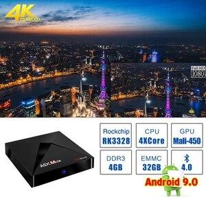 Image 3 - L8STAR A5X MAX Android 9.0 4GB 32GB TV BOX RK3328 4K BT 4.1 USB 3.0 2.4G WiFi 100M Lan lecteur multimédia intelligent HD2.0 OTT TV BOX