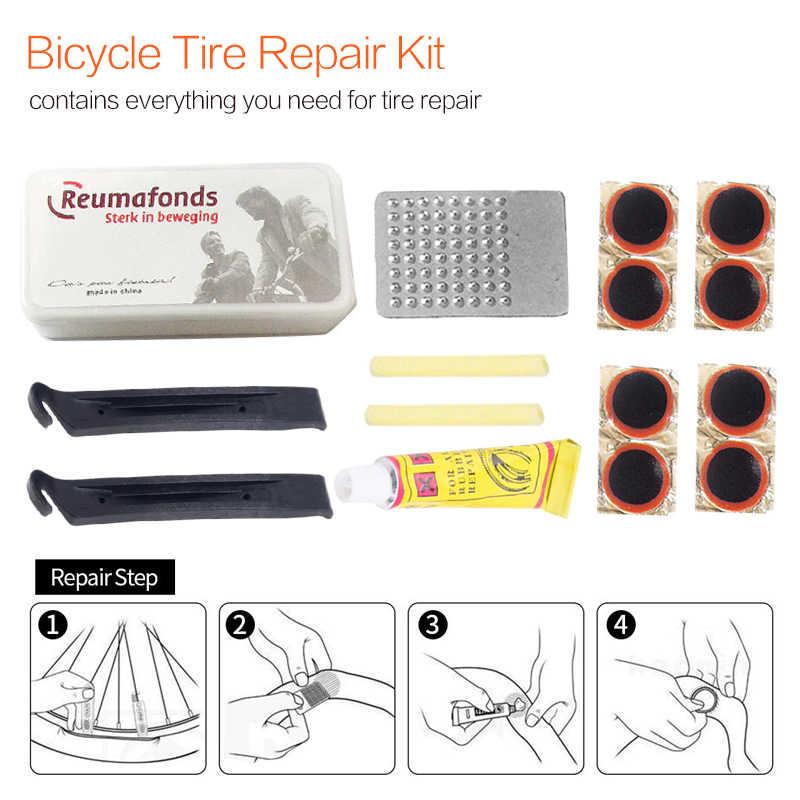 จักรยานเครื่องมือซ่อมจักรยานขี่จักรยานยางยางซ่อม PATCH PATCH ชุดยาง Fix Kit Mender Multi-Purpose ยางฉุกเฉิน