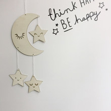 Ornaments Novelty Nursery Decor Pendant Decoration Baby Room Wooden Dream Catcher Photography Props Crafts Moon Star(China)