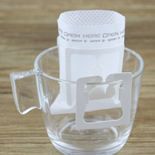 COFFEE-FILTERS Disposable Hanging for 50pcs Non-Woven-Cloth Ear-Style