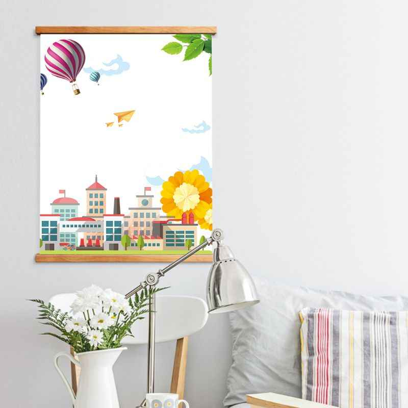 2019 Creative DIY Photo Poster Canvas Painting Frame Magnetic Wooden Hanger Wood Photo Frame Painting Frame Art Hanger