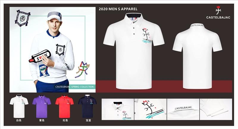 Q 2020Men's Sportswear Short Sleeve Golf T-shirt 4colors Golf Clothes S-XXL In Choice Leisure Golf Shirt Golf Clothes