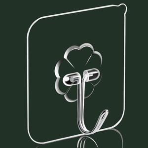Hooks Door-Hangers Wall-Towel Bathroom-Accessories Self-Adhesive Kitchen Hanging Transparent