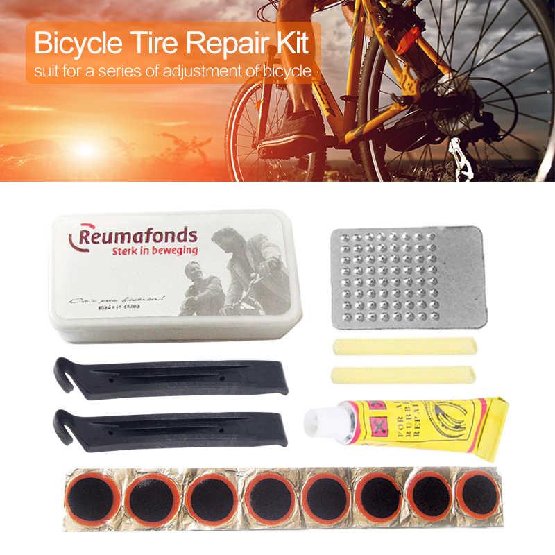 MTB จักรยานเจาะยางบำรุงรักษายาง Patch ยางจักรยานมอเตอร์จักรยาน Patch ชุดซ่อมเครื่องมือยางฉุกเฉิน Fix Kit