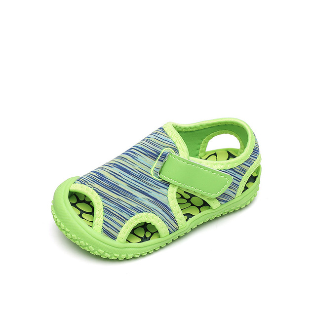 Sandales dété pour bébés filles garçons | Sandales de plage pour enfants, chaussures de plage à fond souple, antidérapantes pour bébés enfants chaussures dextérieur Anti-collision
