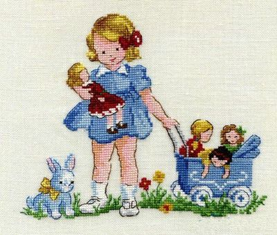 T-MM  Counted Cross Stitch Kit  LBP Magazine Girls'Dolls Needlework For Embroidery 14ct Cross Stitch