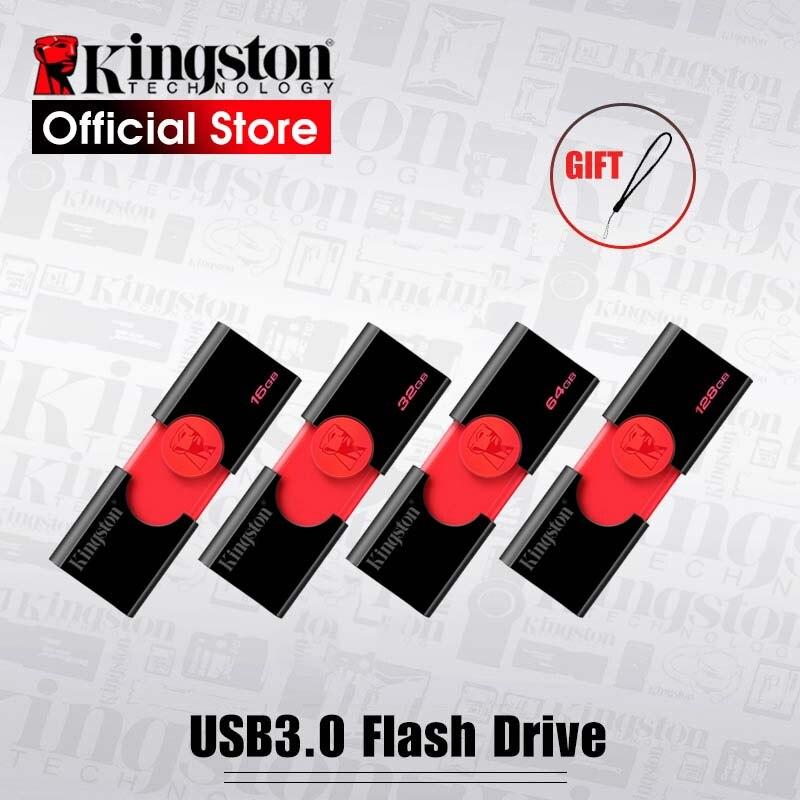 Kingston-lecteur Flash USB DT106 32 go, clé usb 3.1 16 go, 64 go 128 go, stylo usb, clé mémoire Flash USB