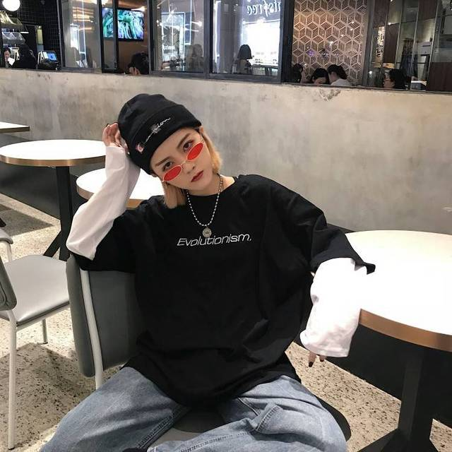 Spring Autumn female  Casual O-Neck stripe Tees harajuku Loose hoodie Women Long Sleeve Oversize top Hip Hop Sweatshirt ins 4