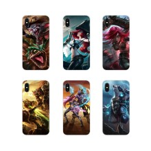 Transparent TPU Skin Case For Samsung Galaxy A3 A5 A7 A9 A8 Star A6 Plus 2018 2015 2016 2017 Cute Skin League of Legends lol art(China)