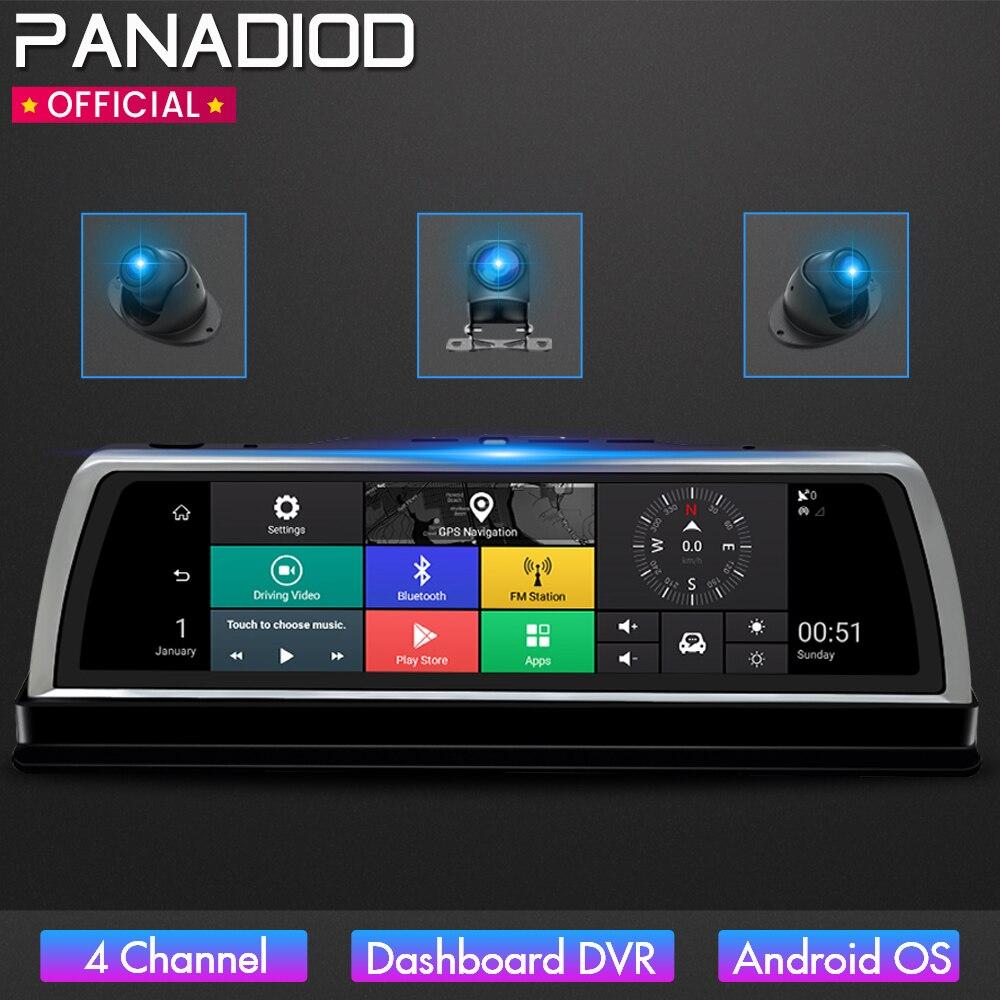 """Cámara de salpicadero 4 canales coche DVR Cámara WIFI 10 """"IPS para Auto 4G Android ADAS navegación GPS 1080P HD completo grabador de vídeo Cámara DVR para coche    - AliExpress"""