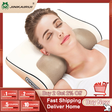 Бесплатная доставка, быстрая доставка, бесплатный возврат Массажер для шеи, электрическая многофункциональная Массажная подушка шиацу для...
