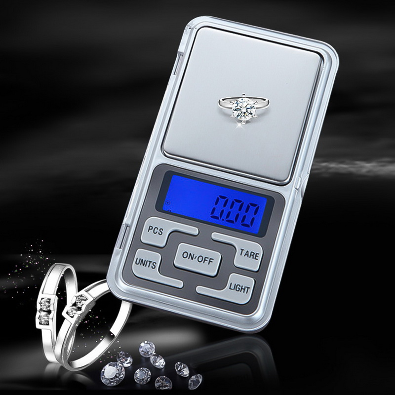 Mini Digital Scale 100/200/300/500g 0.01/0.1g High Accuracy Backlight Electric Pocket For Jewelry Gram Weight For Kitchen