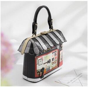 Image 3 - iPinee 2020 Women Shoulder Bag Italy Braccialini Handbag Style Retro Handmade Bolsa Feminina For Ladies House Shaped Bag