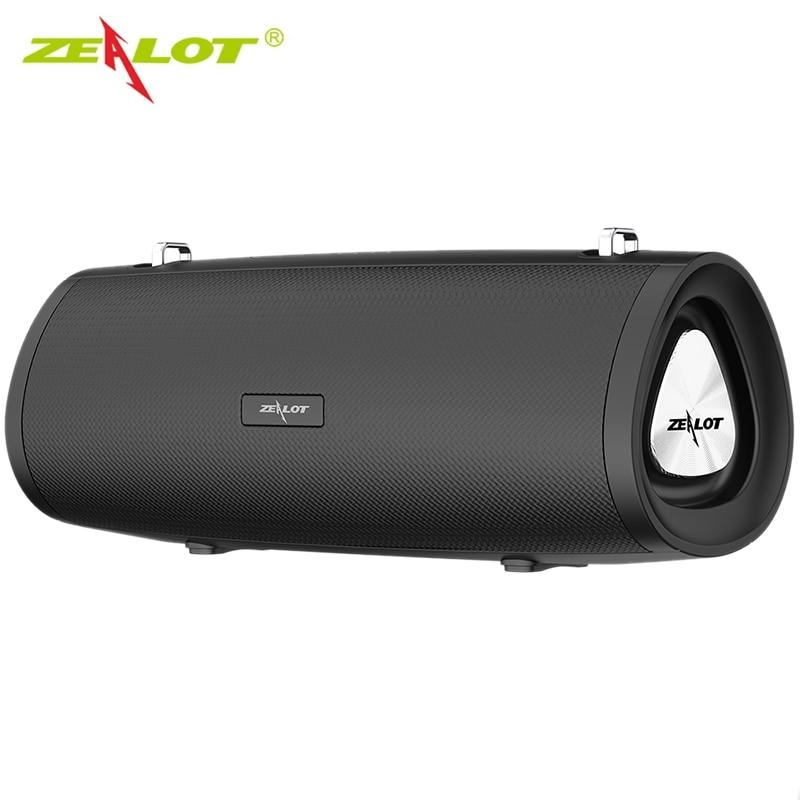 Zélot S39 sans fil bluetooth 5.0 haut-parleur 18W extérieur tenu dans la main Subwoofer 3 pilote Super basse louhaut-parleur pour la fête de Dancn en plein air