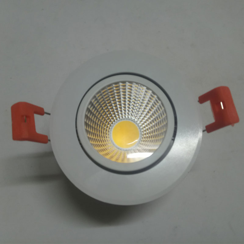 COB LED Downlight 220V LED Spot It LED Ceiling Downlight Dimmable 5W 7W 10W 12w Recessed In Foyer Light AC220V White Round Lamp