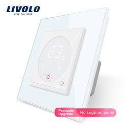 Livolo Slimme Thermostaat Eu Standaard Temperatuurregeling, Vloerverwarming Thermostaat, 4 Kleuren Crystal Glass Panel, ac 110-250V